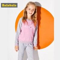 Balabala girls clothing set kids sport suits children clothing kids clothes suits for spring girls O Neck kids tracksuit sets