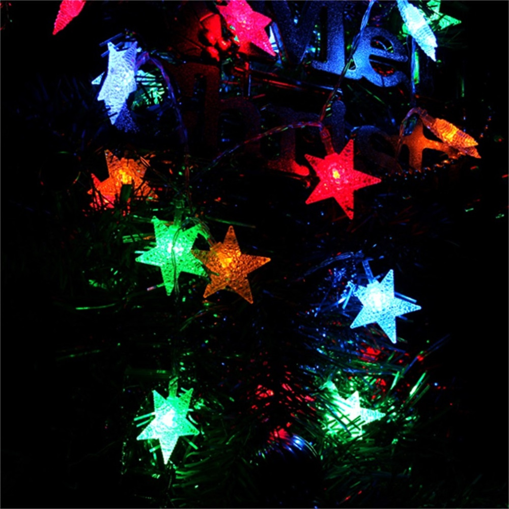 30LEDs LED Fairy String Lights Battery Powered Colorful Star/Flower NewYear Party Wedding Decor Super Deal! Inventory Clearance