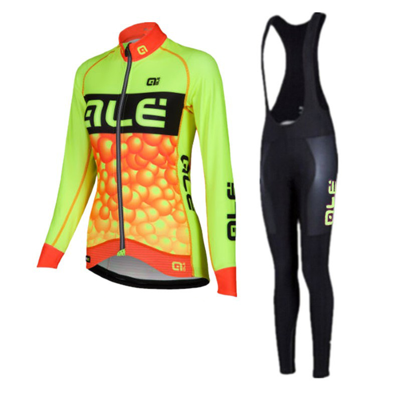 Ropa Ciclismo 2018 ALE Pro Team Cycling Jersey woman Long Sleeve MTB Bicycle Bike Clothing Breathable Quick Dry Sportwear