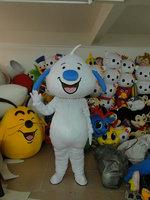 Hot selling high quality white dog mascot cartoon clothing free shipping