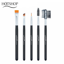 JAF 100% Vegan Eye Makeup Cosmetic Brush Set for Eyeliner Eyebrow Eyelash Syenthetic Hair Brush Comb JE0501S-B Vegan