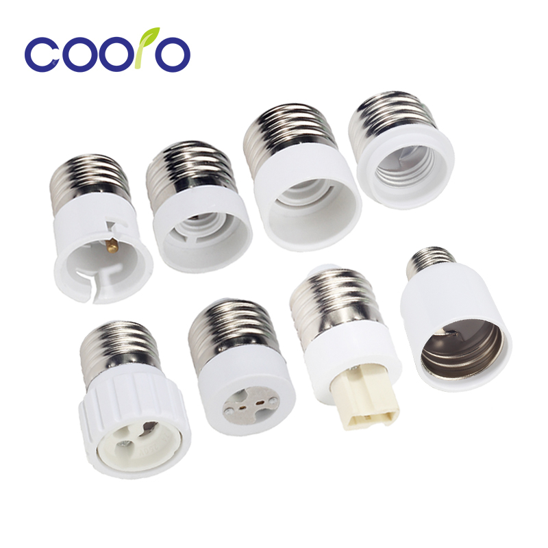 Bulb Converter E27 Male To E12 E14 E40 B22 MR16 G4 G9 GU10 Female Lamp Socket Bulb Base For Indoor Lighting Bulb Extend Adapter