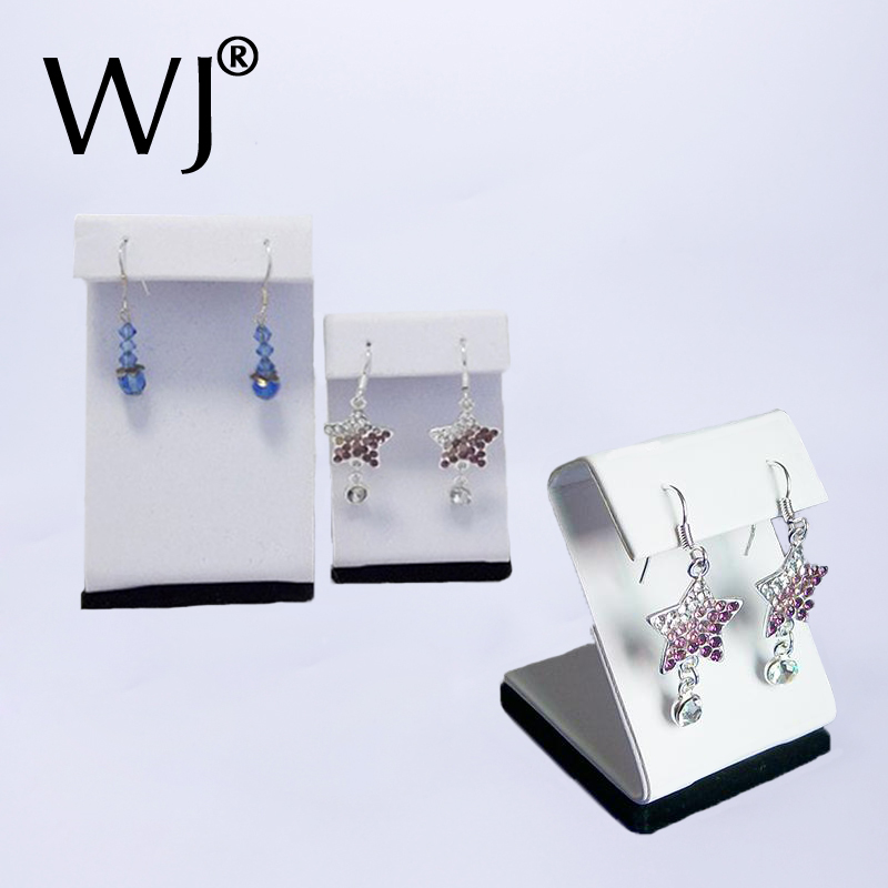 Wholesale Lot of 10 Earring Display Holder Stand Jewelry Ear Ring Studs Organizer Case White Hanging Rack for Window Counter Top