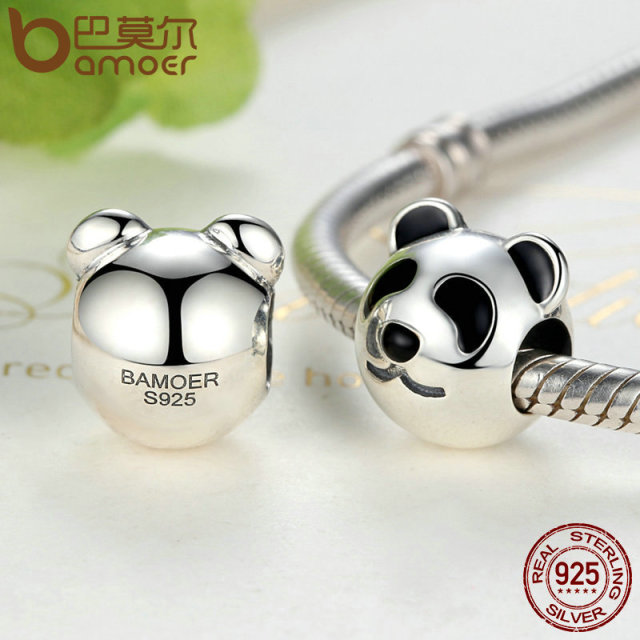 Sterling Silver Cute Fat Panda Animal Charm