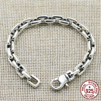 100% S925 sterling silver bracelet personality fashion classic punk youth jewelry chain style to send a gift of love 2018 hot