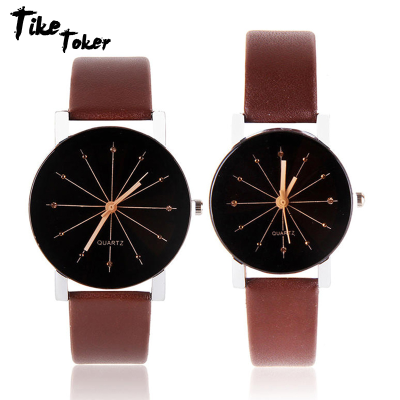TIke Toker,2018 New Watches Women Leather Analog Quartz Watch Reloj Mujer Lady Round Case Time Clock Women's Luxury Design 08