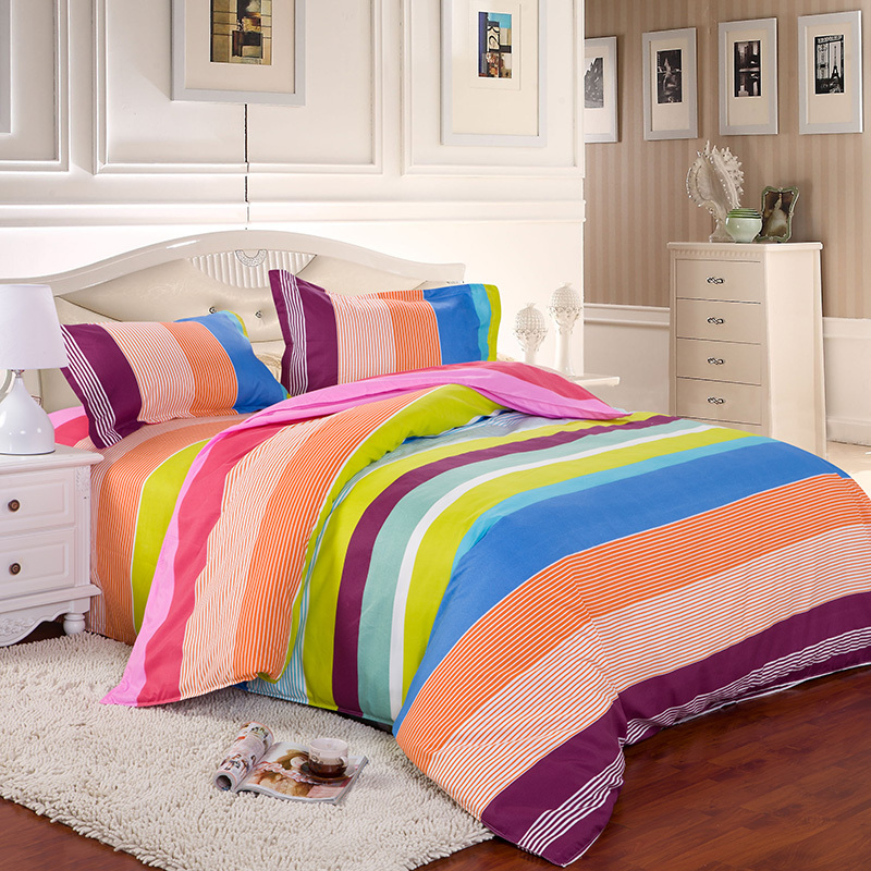 Home Textiles 15 Color Bedding Sets King Queen Twin Sizes Duvet Cover Bed Sheet Pillowcases Bedclothes