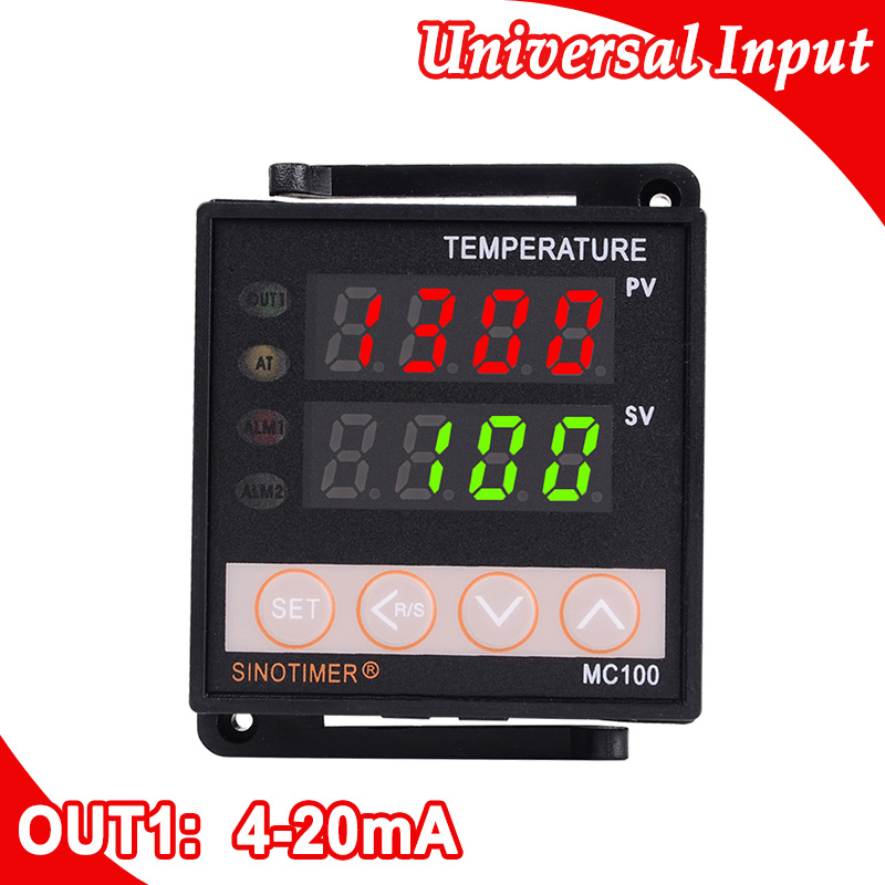 цена на 4-20mA Output Controllers PT100 Input PID Digital Temperature Controller Thermocouple Free shipping