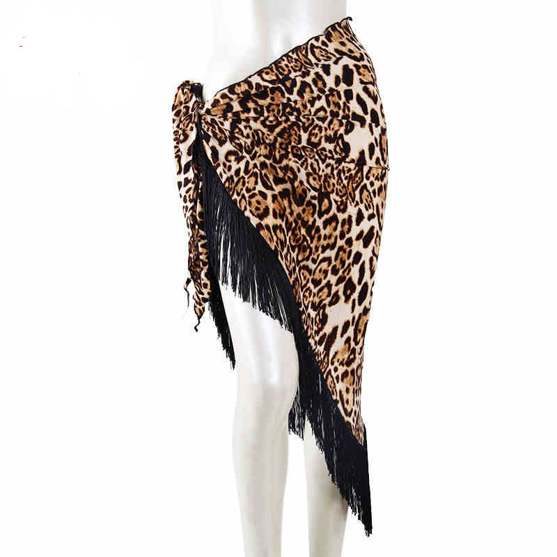 New Arrival Sexy Lace Shawl Hip Triangle Towel Latin Dance Belly Tango Dancing Costumes Fringed Waist Tassel Hip Scarf