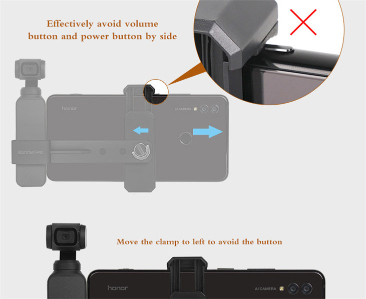 OSMO Pocket Smartphone Fixing Bracket Stand Clamp Extending Rod Tripod for DJI OSMO POCKET Gimbal Accessories 6