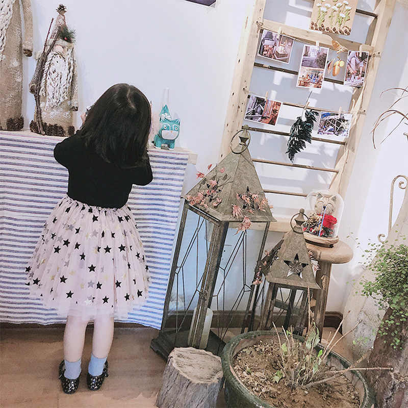 אביב סתיו ילדה בגדי אופנה ארוך שרוולים ילדי שמלת בנות טוטו שמלת נצנצים תינוק בנות מסיבת שמלת BC514