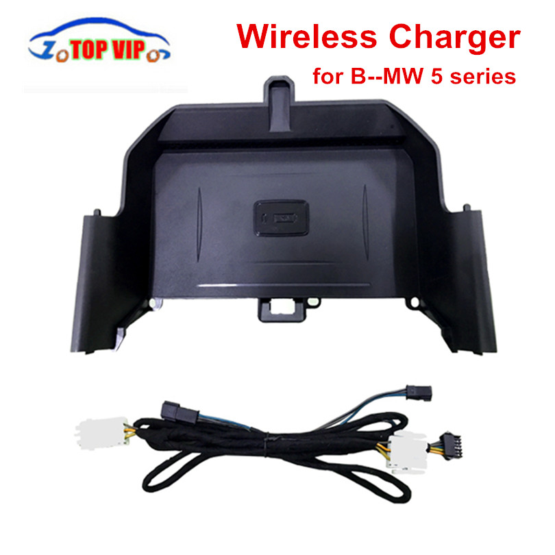 2018 New Car Mobile phone Wireless Charger For B–M-W5 series Wireless Charger Charging For iPhone X 8 Plus For Samsung Galaxy