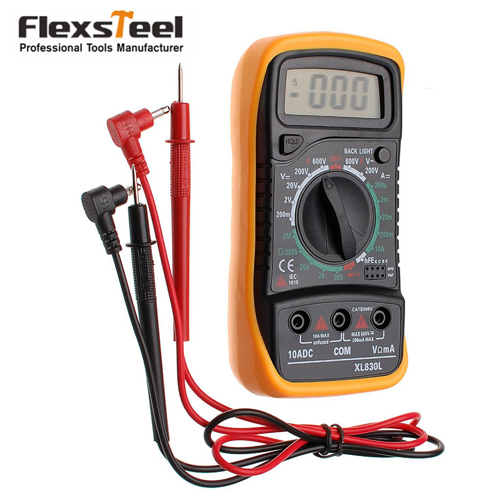L De Voltage Meter : Flexsteel lcd digital multimeter ohmeter meter ac dc