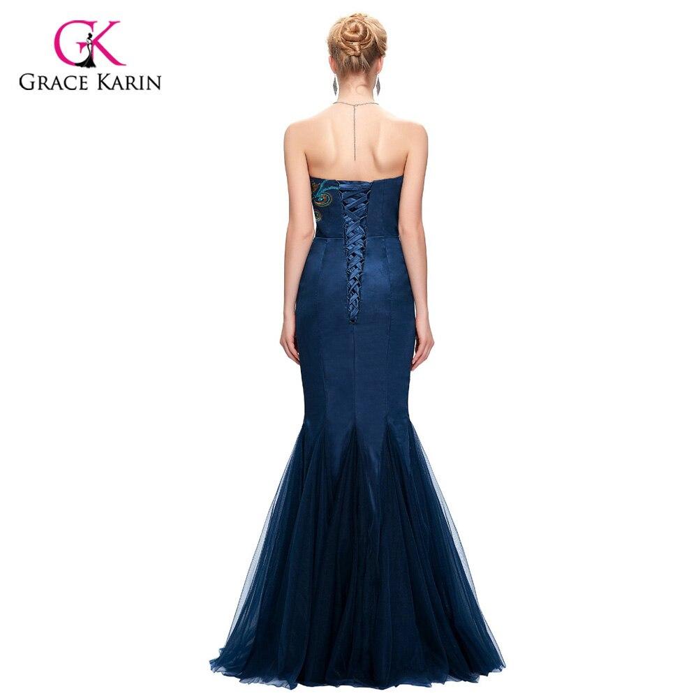 Robe de soiree pfau abendkleid grace karin 2017 schwarz königsblau ...