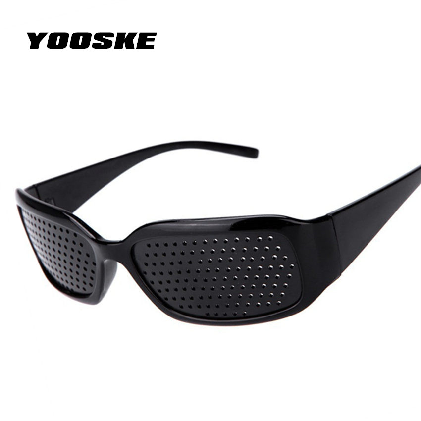 YOOSKE Black Pinhole Sunglasses Anti Fatigue Vision Care