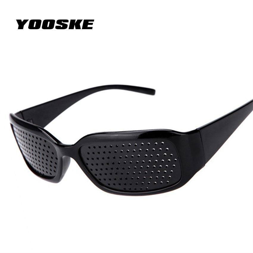 YOOSKE Black Pinhole Sunglasses Anti-fatigue Vision Care Pin Hole Microporous Glasses Eye Exercise Eyesight Improve Anti-myopia