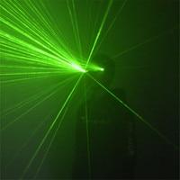 P12 Rave party cosplay wears dj gloves 2pcs laser heads green laser glasses bar perform robot men glowing projector men show dj
