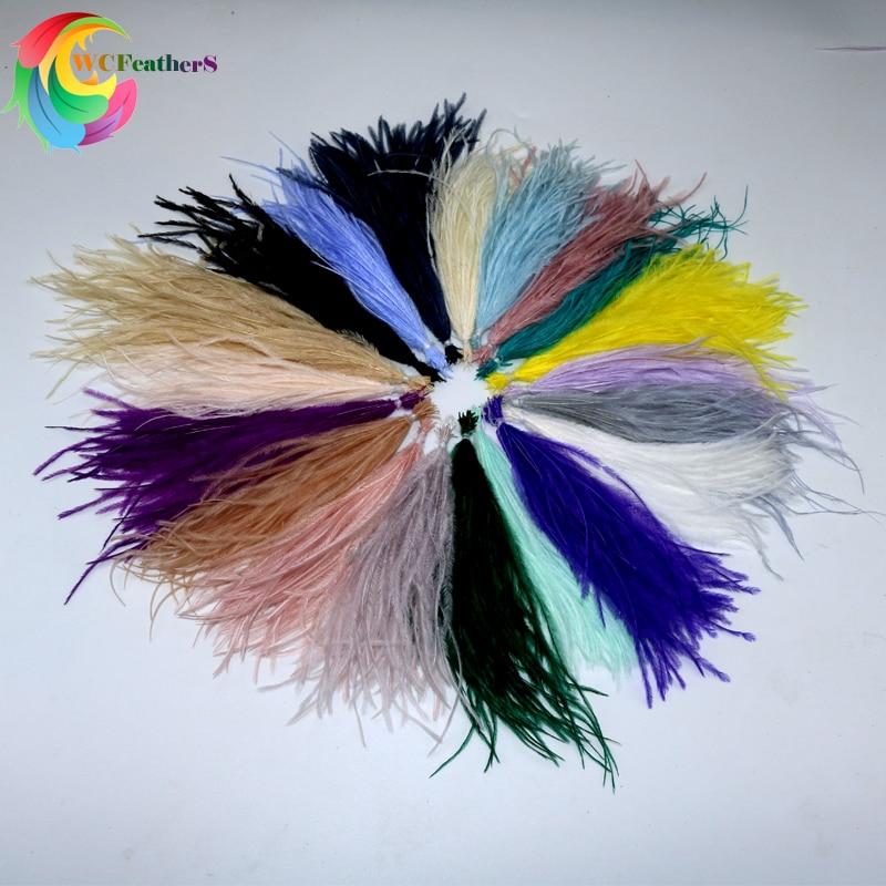 100 pçs/lote 19 Colorido Fofo Natural Penas de Avestruz Tingidas Pluma Para a Jóia DIY Brinco Roupas Decoração Tamanho 10-15/15-18 CM