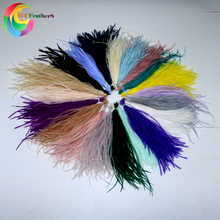 100pcs/lot Natural Ostrich Feathers Dyed 19 Colored Fluffy Plume For DIY Jewelry Earring Clothes Decoration Size 10-15/15-18 CM