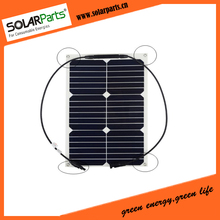 18W rollable& flexible solar panel solar module for RV/Boat/Golf cart/Marine/Yachts/Home use with junction box and MC4 connector