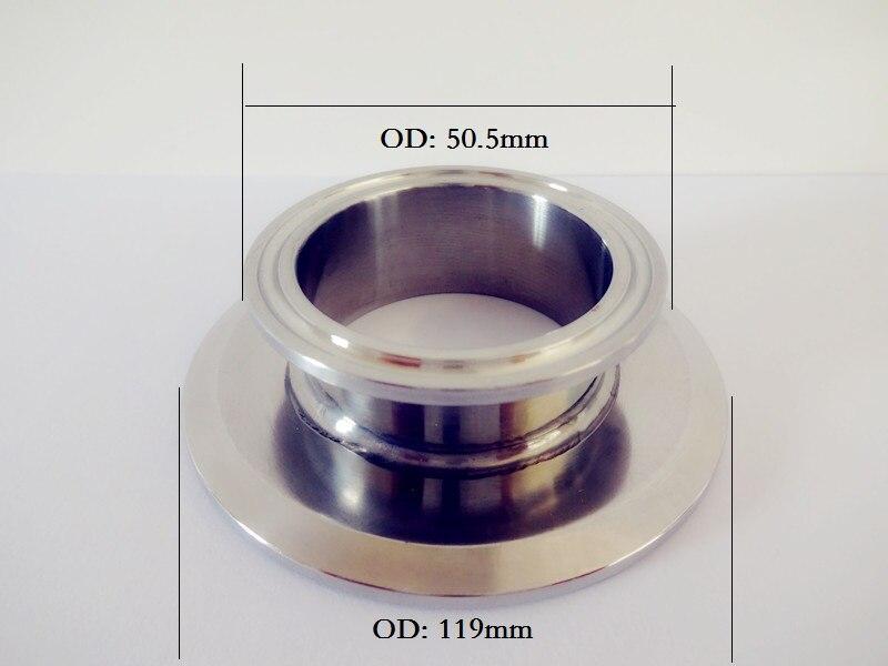 Grátis tipo Curto Sanitária de Aço Frete Braçadeira Redutor 102mm Od119 x 1.5 38mm Od50.5 Inoxidável 304 Conector Tri 4