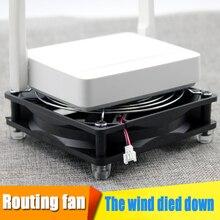 Беспроводной теплоотвод роутера сетки-нетто свет кошка комплект-топ ТВ коробка Вентилятор охлаждения 8/12/14 см USB DC 5 V кулер вентилятор серебро металлическая сетка