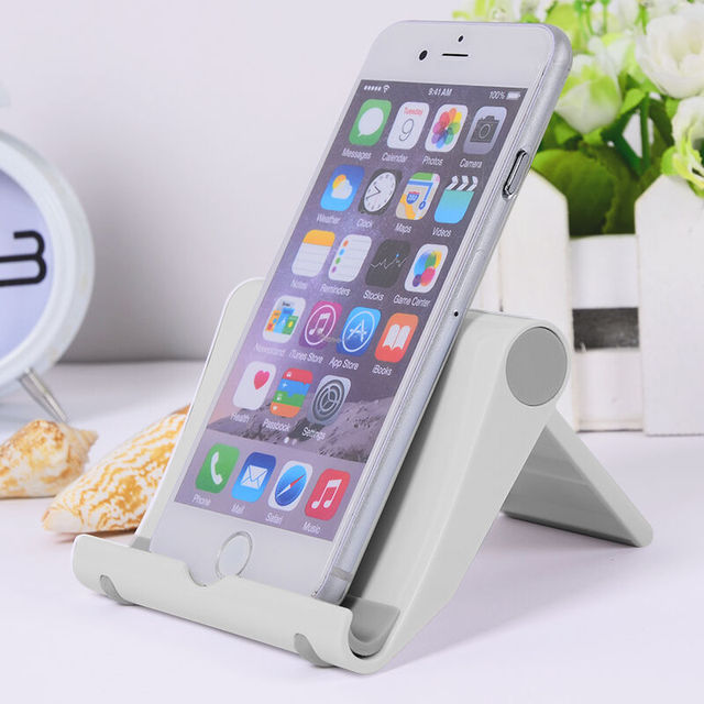 Universal White Mobile Phone Stand Foldable Desk Phone Holder For