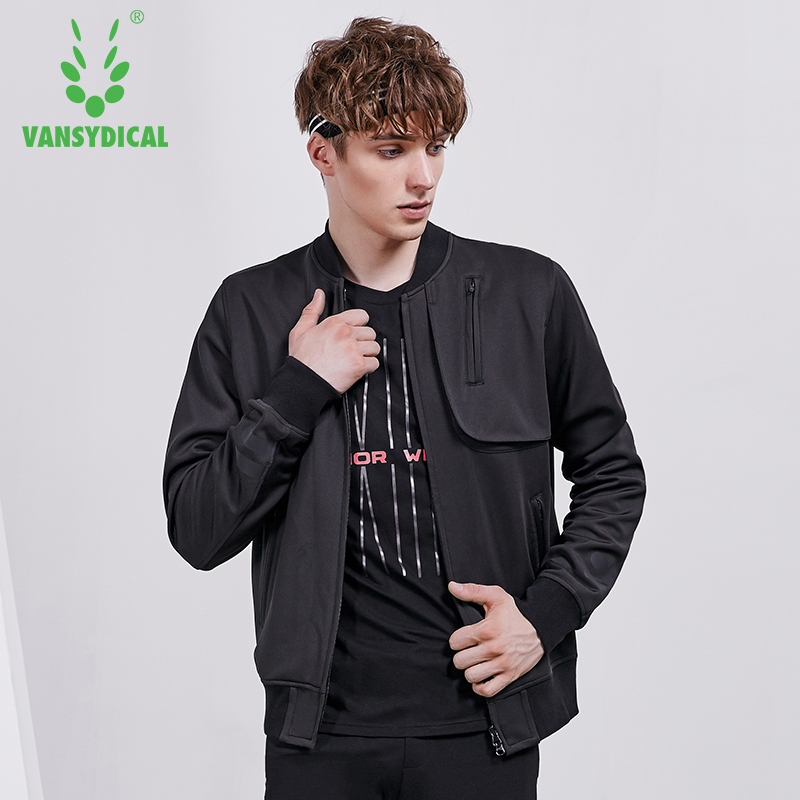 Vansydical Autumn Winter Mens Sports Running Jackets Tops Long Sleeve Two-way Zipper Outdoor Fitness Workout Jogging CoatVansydical Autumn Winter Mens Sports Running Jackets Tops Long Sleeve Two-way Zipper Outdoor Fitness Workout Jogging Coat