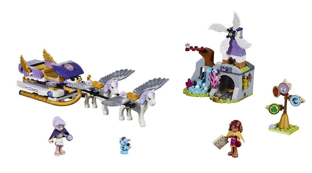 BELA Elves Aira's Pegasus Sleigh Building Blocks Kits Model Toys Bricks Marvel  compatible with legoe