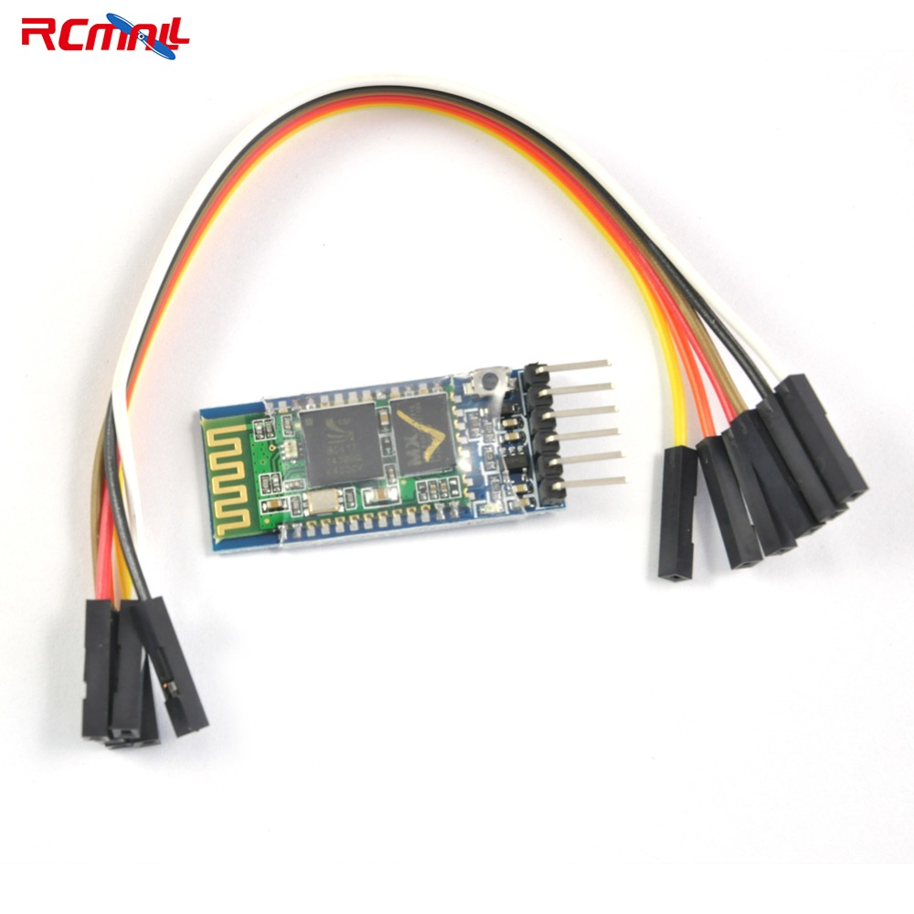 RCmall Wireless Serial 6 Pin Bluetooth RF Transceiver HC-05 RS232 with Female to Female Cable Host and Slave 3.6-6V FZ0404