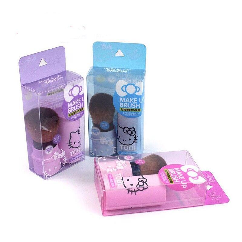 Новые 3 цвета Hello Kitty Мини-набор кисточек для макияжа Выдвижные кисти для макияжа Pro Качественный косметический порошок для макияжа с тенями для век