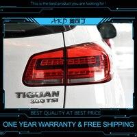 AKD tuning cars Tail lights For VW Tiguan 2013 Taillights LED DRL Running lights Fog lights angel eyes Rear parking lights