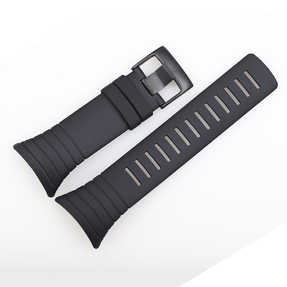 35mm Silicone Strap Watchband For SUUNTO CORE ALL BLACK Wristwatches Replacement Sport Men Rubber Wristband Watch Belt Bracelet