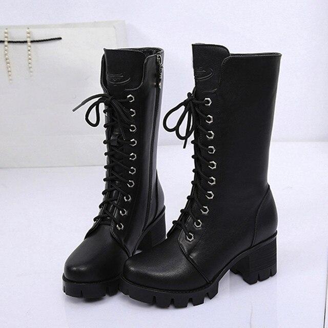 YOUYEDIAN Kadın Ayak Bileği Patik Deri Şövalye Bayan Martin Çizmeler Zip Kovboy Ayakkabı sapato feminino konfor vel # a25d