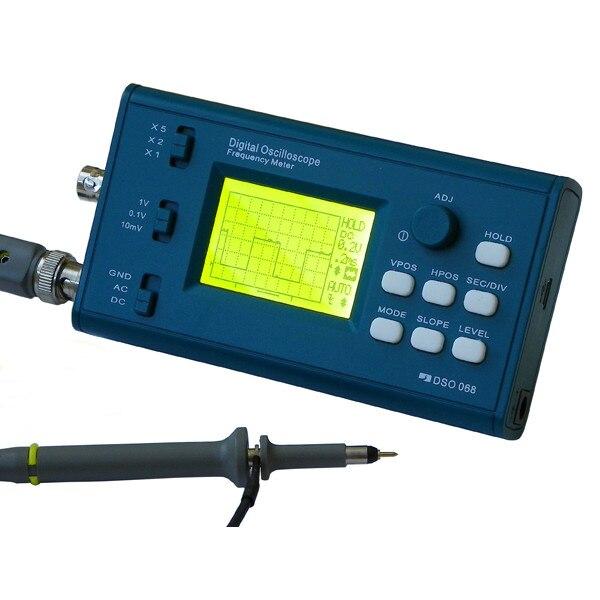 Оригинальный DSO068 DIY осциллограф комплект с цифровой хранения частотомер ATmega64 AVR микроуправлением