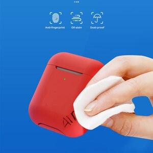 Image 3 - Fundas de silicona para Airpods, funda protectora de lujo para auriculares Apple Airpods 2, funda a prueba de golpes con gancho