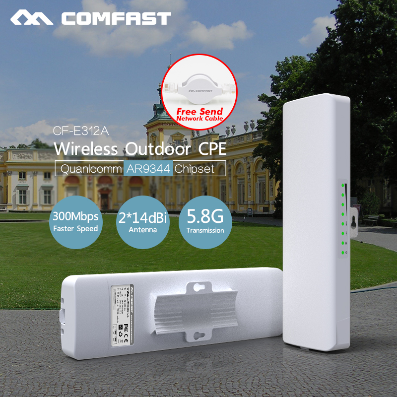 Comfast Long Range Outdoor wifi access point 5G CPE bridge Signal Booster wifi router AR9344 Wireless AP 14dbi wifi Camera CPE 2pcs 5 8g 300mbps cpe wifi signal booster amplifier network bridge 2 14dbi antenna wi fi access point nanostatio for ip camera