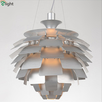 Nordic PH5 Pinecone E27 Led Pendant Light Lustre Aluminium Leaf Led Luminaire Pendant Lamp Indoor Lighting Hanging Lamp Fixtures