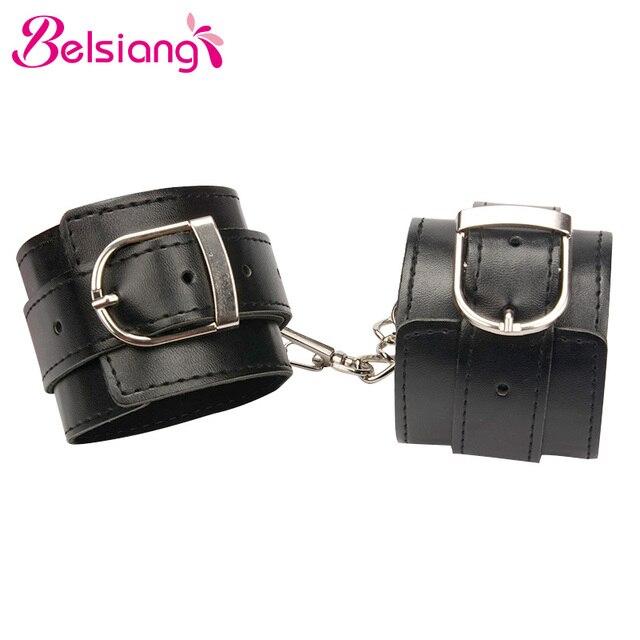 Belsiang кожаные наручники для секс наручники садо ограничения Фетиш раб интимные Товары Секс-игрушки для пары взрослая игрушка