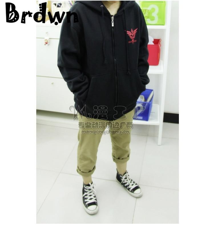 brdwn Gundam cartoon black Anime cosplay hoodie spotswear coat jacket in Hoodies amp Sweatshirts from Men 39 s Clothing