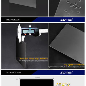 Image 4 - Zomei כיכר מסנן 100mm x 150mm צפיפות ניטראלי אפור ND248 ND16 100mm * 150mm 100x 150mm עבור Cokin Z PRO סדרת מסנן