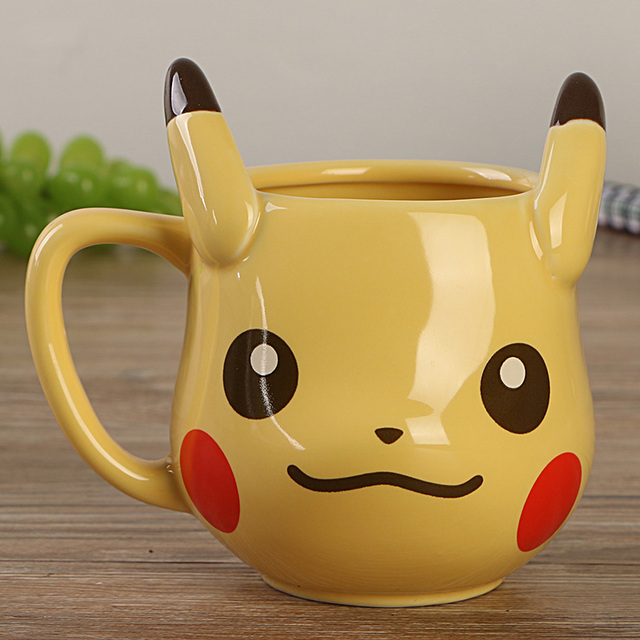 Anime Game Pocket Monsters Pikachu Coffee Mug Creative Cute Ceramic Coffee Cup