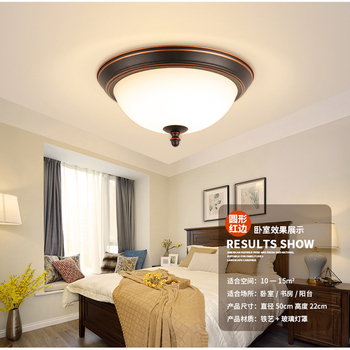 Harz led-deckenleuchte moderne Runde decke licht wohnzimmer moderne schwarz  für bett zimmer Lampen AC 90 V- 260 V