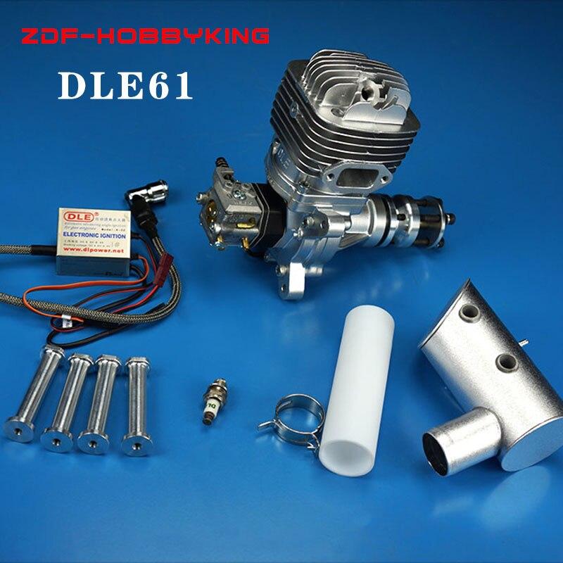 Original neue DLE DLE61 modell flugzeug modell benzin motor 61CC motor Für RC hubschrauber/fixed wing hobby-in Teile & Zubehör aus Spielzeug und Hobbys bei  Gruppe 1