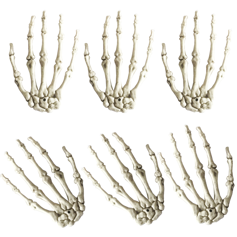 3 pairs a lot plastic skeleton hands haunted house for halloween decoration halloween props - Halloween Decorations Skeleton