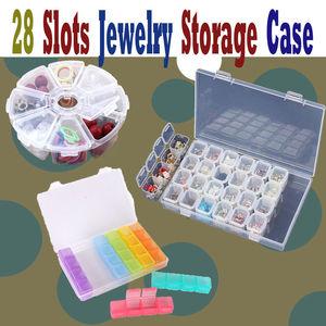Image 4 - 28 слотов хранение для принадлежностей для дизайна ногтей пластиковый держатель для ювелирных колец Стразы Алмазный Органайзер Прозрачный чехол для дисплея