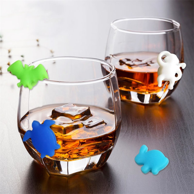 Cute Style Wine Glass Markers 12 Pcs Set