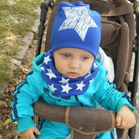Star Pattern Baby Hat Newborn Stretch Cotton Baby Hat Candy Color Cute Head Cap