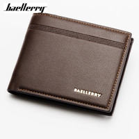 Baellerry Top Quality Thin Wallet Men Purse Money Short Men Wallets Slim Fashion Simple Leather Wallet