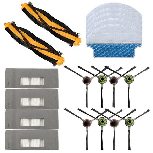 Szczotka boczna + szczotka główna + filtr + mop zestaw dla Ecovacs Deebot M80 M80 Pro DT83 DT85 zamiatarka akcesoria w celu uzyskania